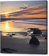 Sunrise On A Beach Near The Port Canvas Print