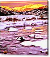 Sunrise On A Cold Day Canvas Print