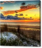 Sunrise On A Jekyll Island Dune Canvas Print