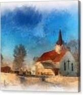 Sunrise On A Rural Church 03 Canvas Print