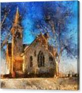 Sunrise On A Rural Church 12 Canvas Print