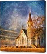 Sunrise On A Rural Church 13 Canvas Print