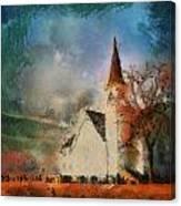 Sunrise On A Rural Church 18 Canvas Print