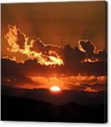 Sunrise On Fire Canvas Print
