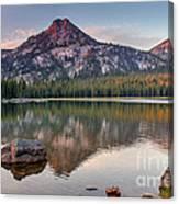 Sunrise On Gunsight Mountain Canvas Print