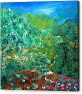 Sunrise On Hilltop Canvas Print