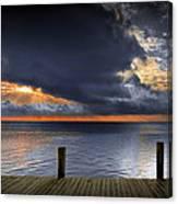 Sunrise On Key Islamorada In The Florida Keys Canvas Print
