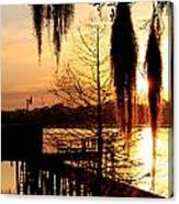 Sunrise On Lake Weir - 7 Canvas Print