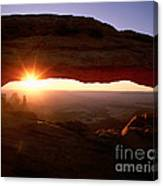 Sunrise On Mesa Arch Canvas Print