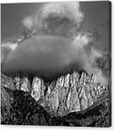 Sunrise On Mount Whitney Eastern Sierras California Canvas Print