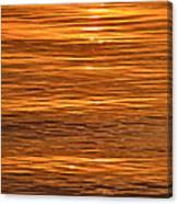 Sunrise On Orange Waves  Canvas Print