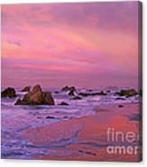 Sunrise On Sea Stacks Harris Sb Oregon Canvas Print