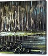 Sunrise On The Bayou Canvas Print