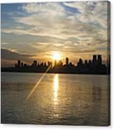 Sunrise On The Big Apple Canvas Print
