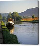 Sunrise On The Burgundy Canal Canvas Print