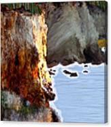 Sunrise On The Cliff Canvas Print