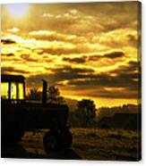 Sunrise On The Deere Canvas Print