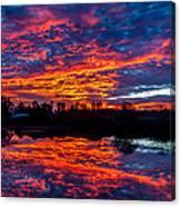 Sunrise On The Fishing Hole Canvas Print