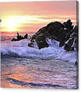 Sunrise On The Horizon Canvas Print