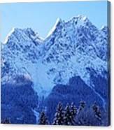 Sunrise On The Alps Canvas Print