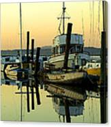 Sunrise On The Petaluma River Canvas Print