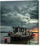 Sunrise On The River Taw Canvas Print