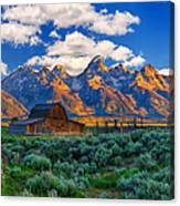 Sunrise On The Tetons Limited Edition Canvas Print
