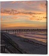 Sunrise On Topsail Island Panoramic Canvas Print