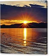 Sunrise On Yellowstone Lake Canvas Print