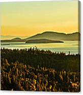 Sunrise Over Bellingham Bay Canvas Print