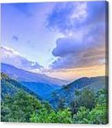 Sunrise Over Blue Ridge Mountains Scenic Overlook  Canvas Print
