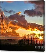 Sunrise Over Countryside Canvas Print