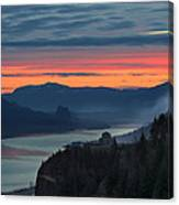 Sunrise Over Crown Point Canvas Print