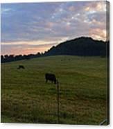 Sunrise Over Farm Canvas Print