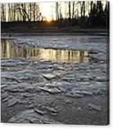 Sunrise Over Ice Canvas Print