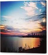 Sunrise Over Lake Erie Cleveland Canvas Print