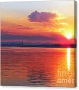 Sunrise Over Seattle Canvas Print