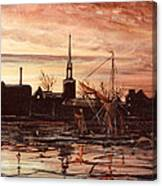 Sunrise Over St Marys Church And Rotherhithe London Canvas Print