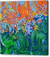 Sunrise Over Stormy Seas Canvas Print