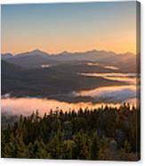 Sunrise Over The Adirondack High Peaks Canvas Print