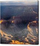 Sunrise Over The Canyon Canvas Print