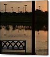 Sunrise Over The Dock Canvas Print