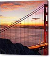 Sunrise Over The Golden Gate Bridge Canvas Print