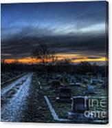 Sunrise Over The Grave Canvas Print