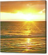 Sunrise Over The Pacific Ocean, Cabo Canvas Print
