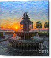 Sunrise Over The Pineapple Canvas Print