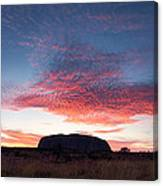 Sunrise Over Uluru Canvas Print