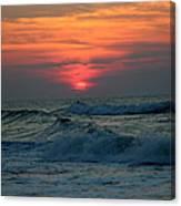 Sunrise Over Waves Canvas Print