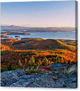 Sunrise Over Winnipesaukee. Canvas Print