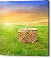 Sunrise Picnic Basket Canvas Print